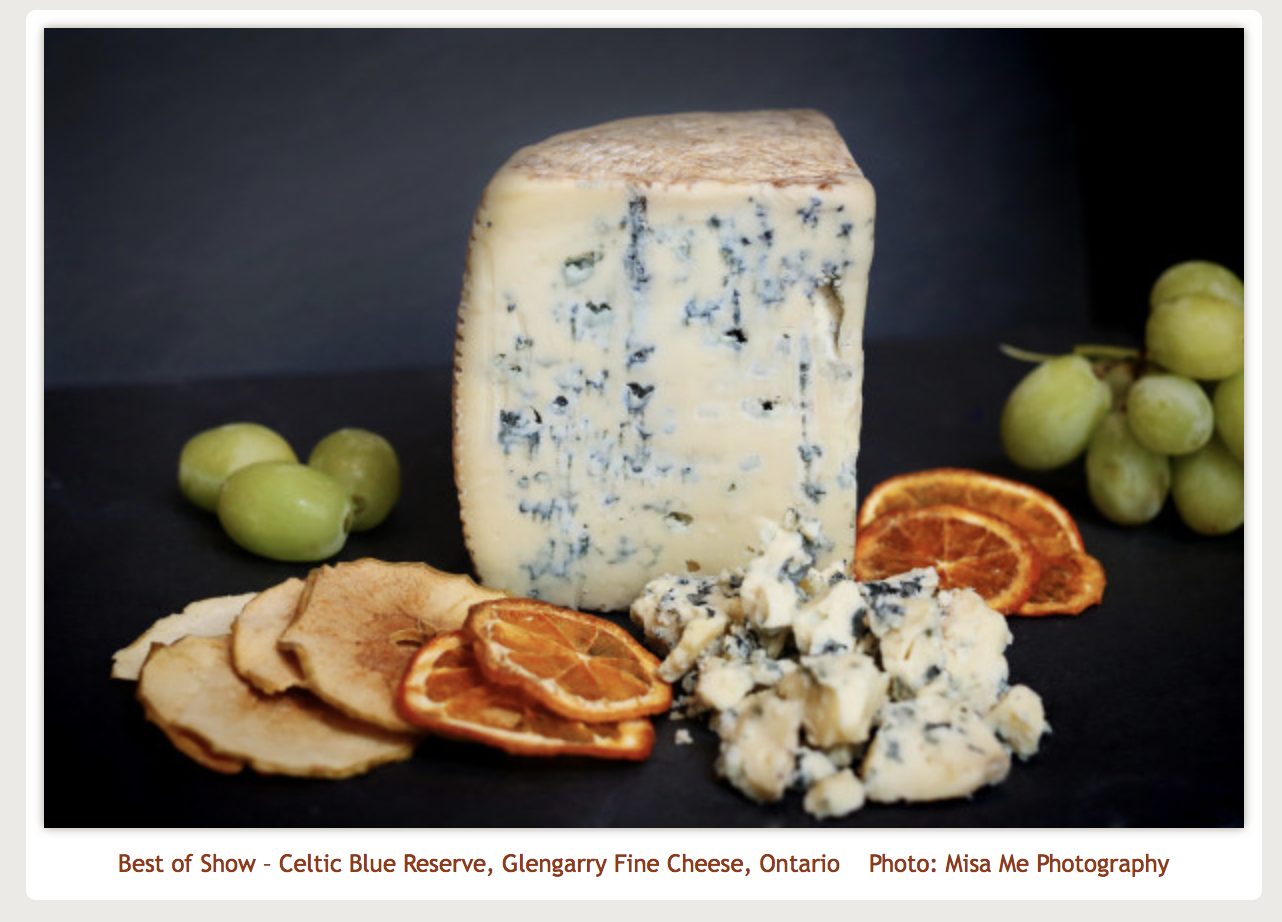 American Cheese Society, Best of show 2015 Celtic Blue Reserve, Glengarry Fine Cheese, Ontario Photo:  Misa Me Photography