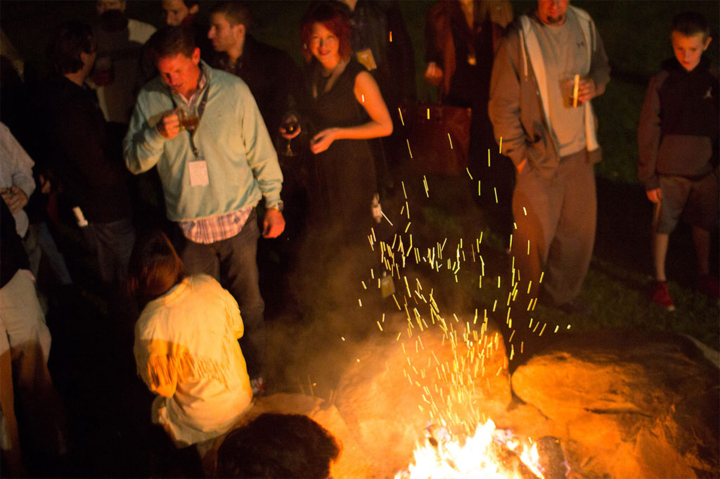 Bonfires burn bright for the crowds at the ITVF.