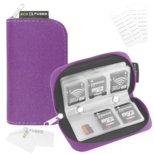 EcoFused Memory Card Carrying Case with Slots that can be labeled.